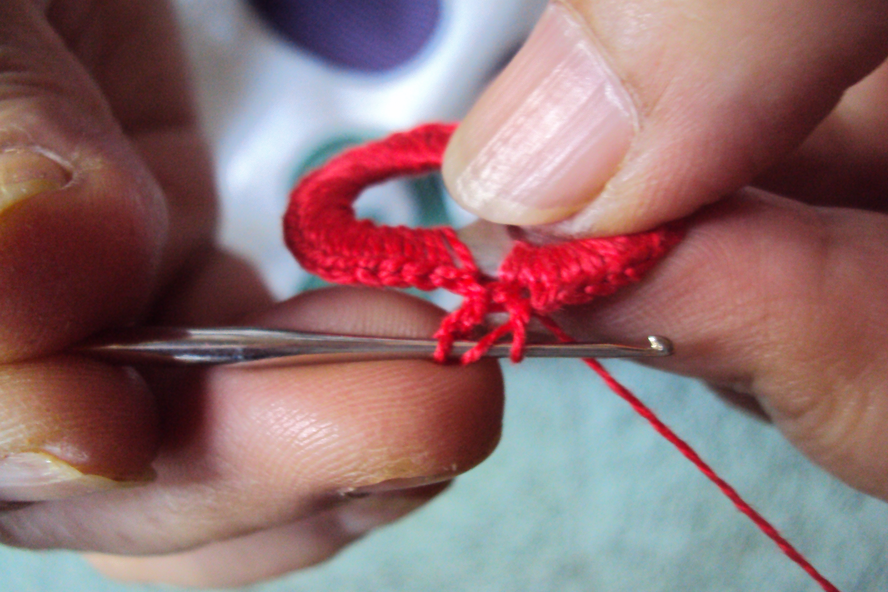 Picture of DOUBLE CROCHET STITCH..
