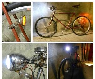 Vintage Bike Lights to LED Conversion