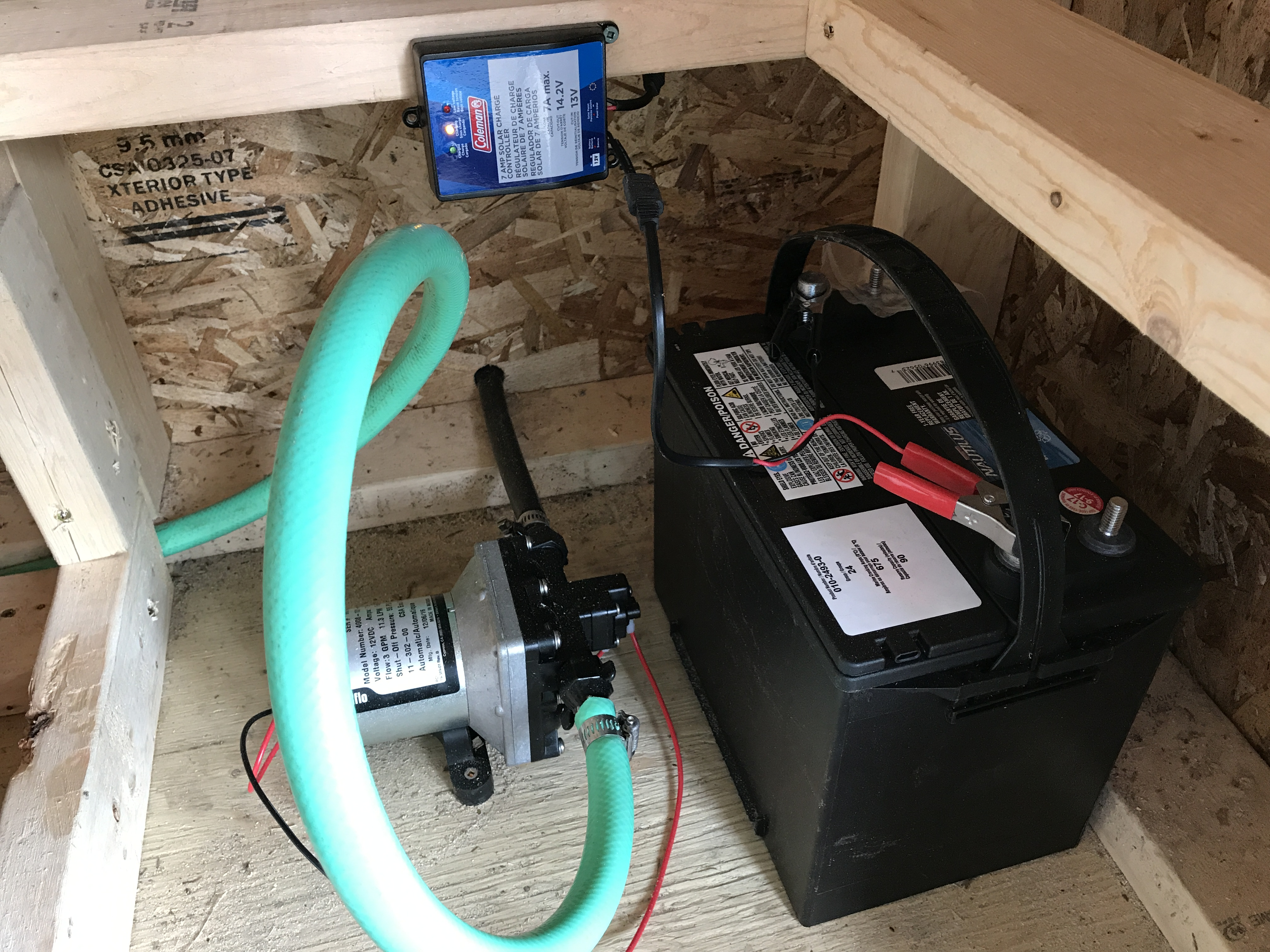 Picture of RV Water Pump and Battery