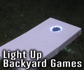 Add Light Up Effects to Backyard Games Like Cornhole