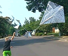 Newspaper Kite
