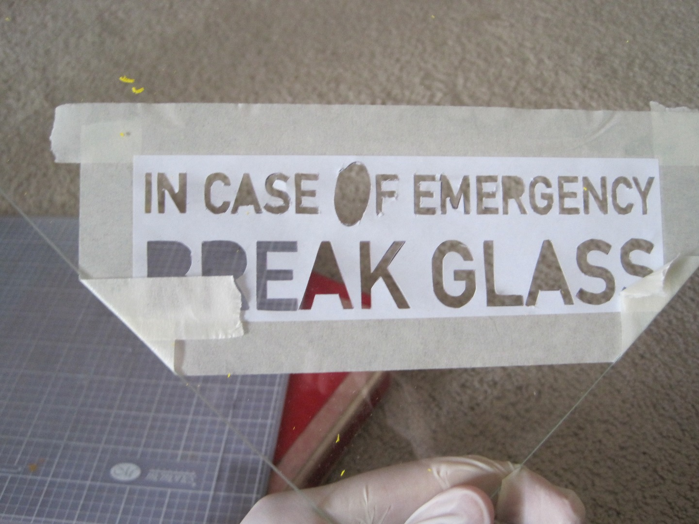 Picture of Prepare and Paint the Glass