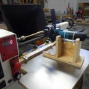 Wood Lathe Duplicator With Angle Grinder