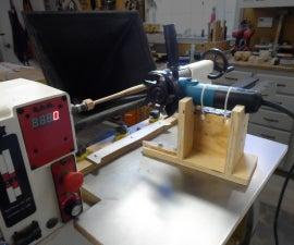 Wood Lathe Duplicator With Angle Grinder