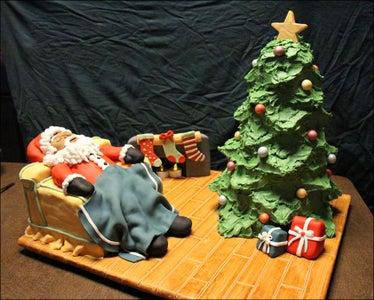 Sleeping Santa Cake