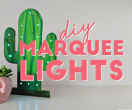 DIY Marquee Lights