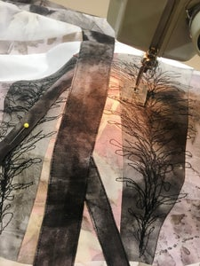 Free Motion Sewing the Trees: