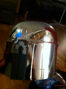 Installing Eye LED Strips and Chrome on Top of Helmet