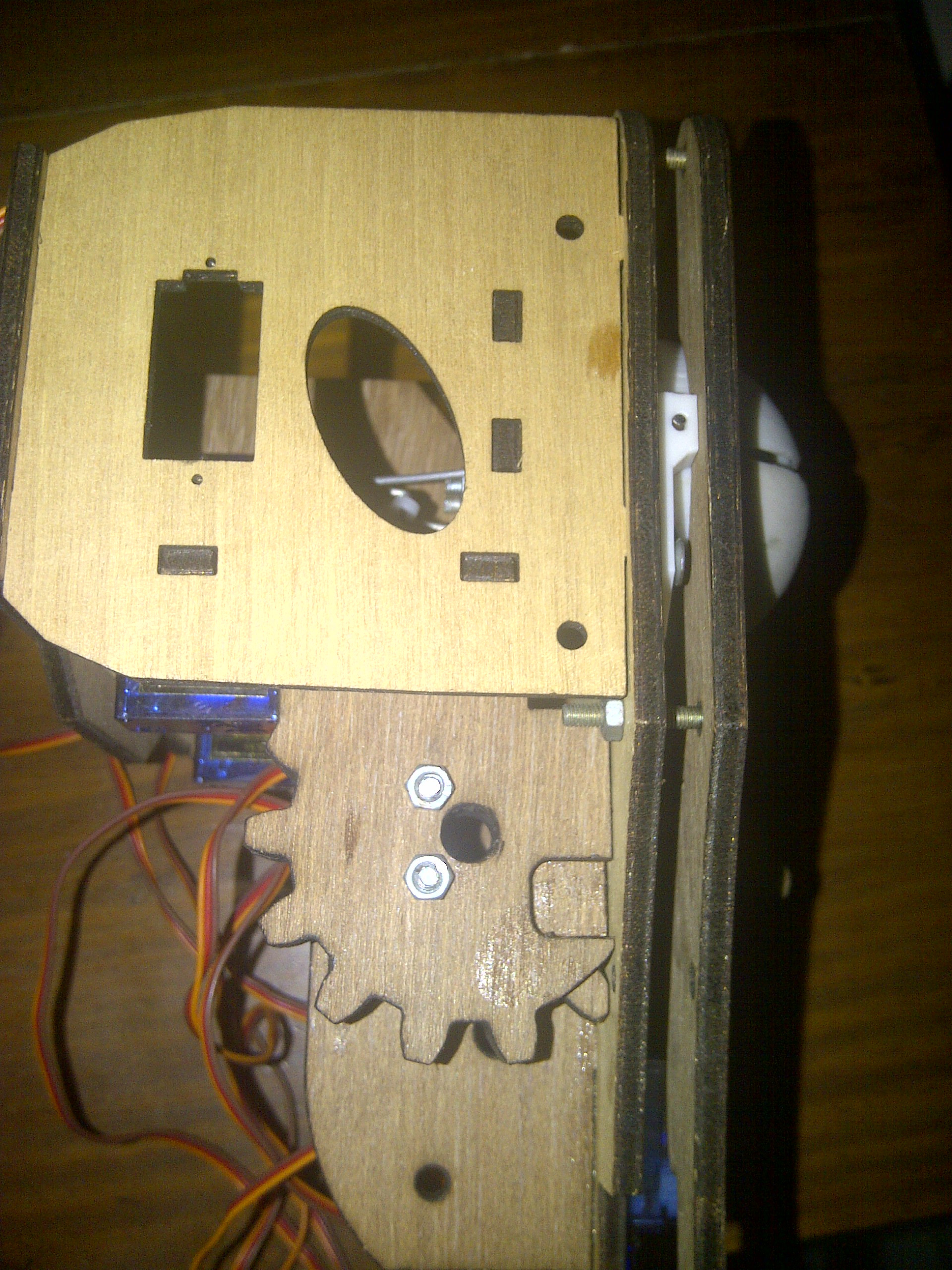 Picture of Mount the Eyelid Box Onto the Eyeball Box.