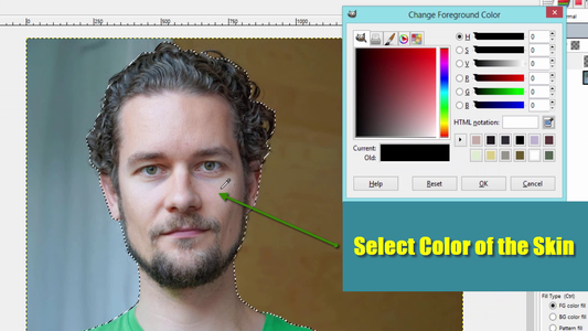 Fill the Selection With Subject's Skin Tone Color
