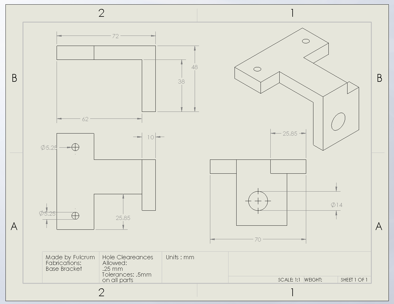 Picture of Base Plate Drawing