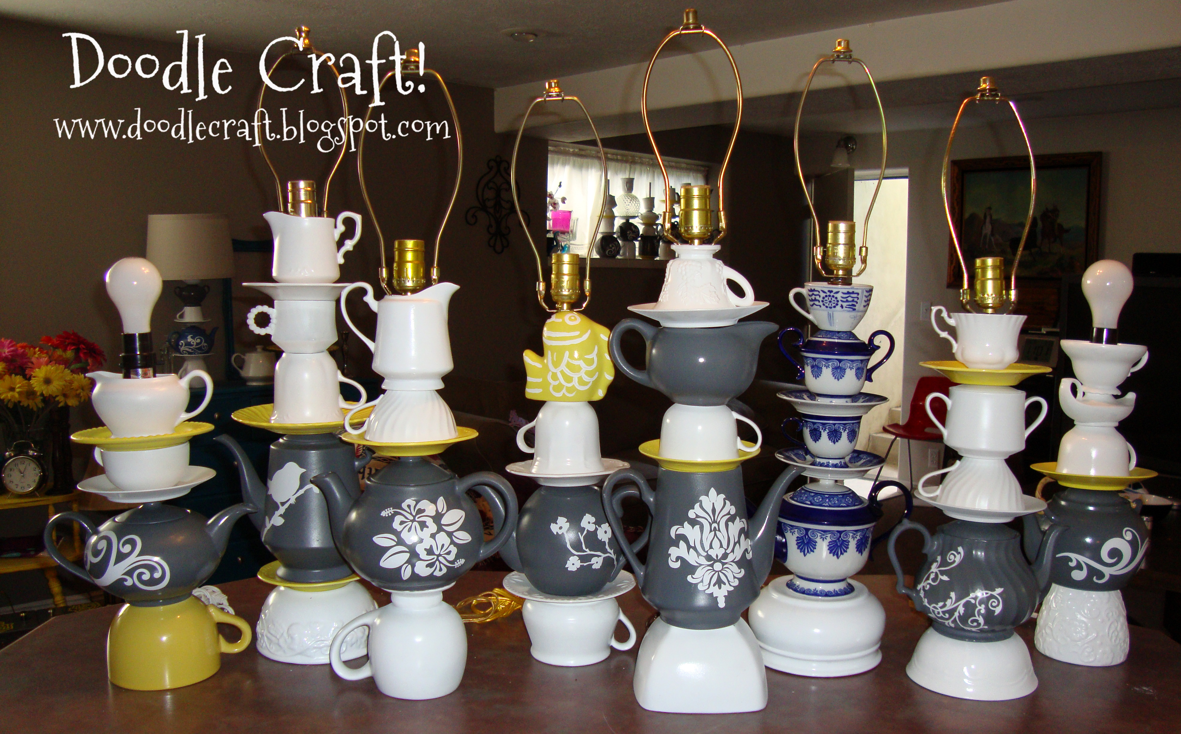 Picture of Create a Whimsical Mad Hatter Teapot Lamp!