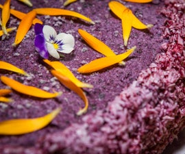No Bake Blueberry Cream Cake
