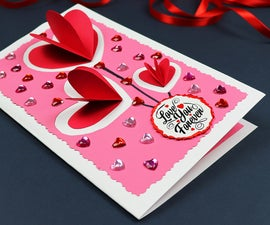 DIY Pop Up Hearts Valentine's Day Card