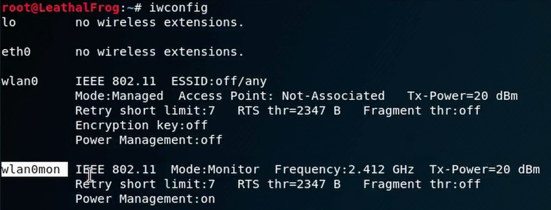 Set the Wifi Adapter to Monitor Mode