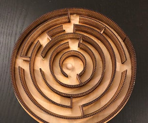 Circular Maze With Living Hinge Walls