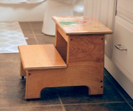 Kid's Step Stool With Their Artwork!