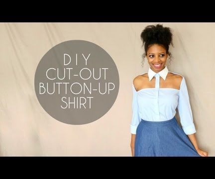 Diy Cut Out Button Up Shirt No Sewing Required 5 Steps With
