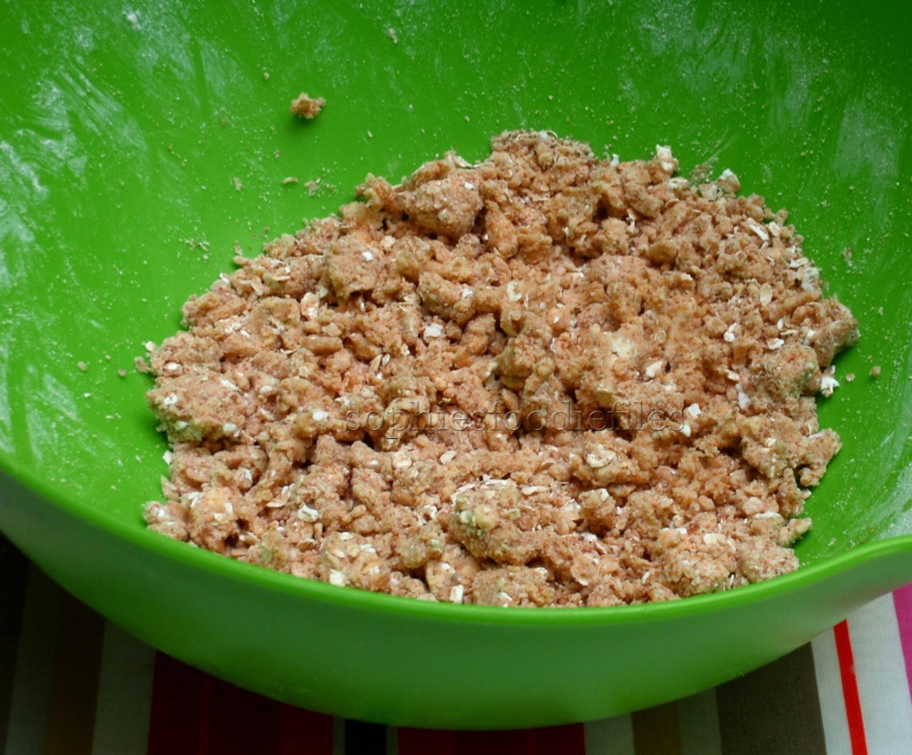 Picture of A Few Hours Before You Are Gong to EAT Your Crumble, Make the Crumble Topping & Fruit Layer Too.