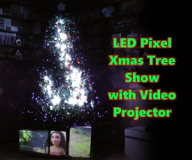 LED Christmas Tree With Video Projector (Rasp Pi)