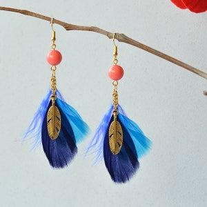 The Finalized Feather Dangle Earrings Looks Like: