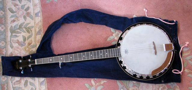 Make a Soft Carry Case for a Banjo - Quick and Cheap.