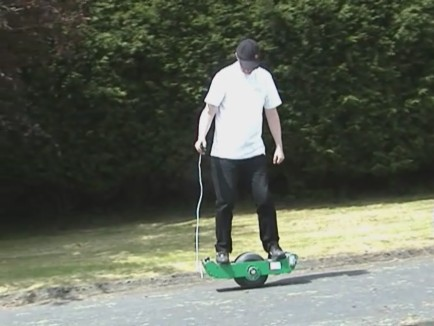 Picture of Self Balancing One Wheeled Electric Skateboard