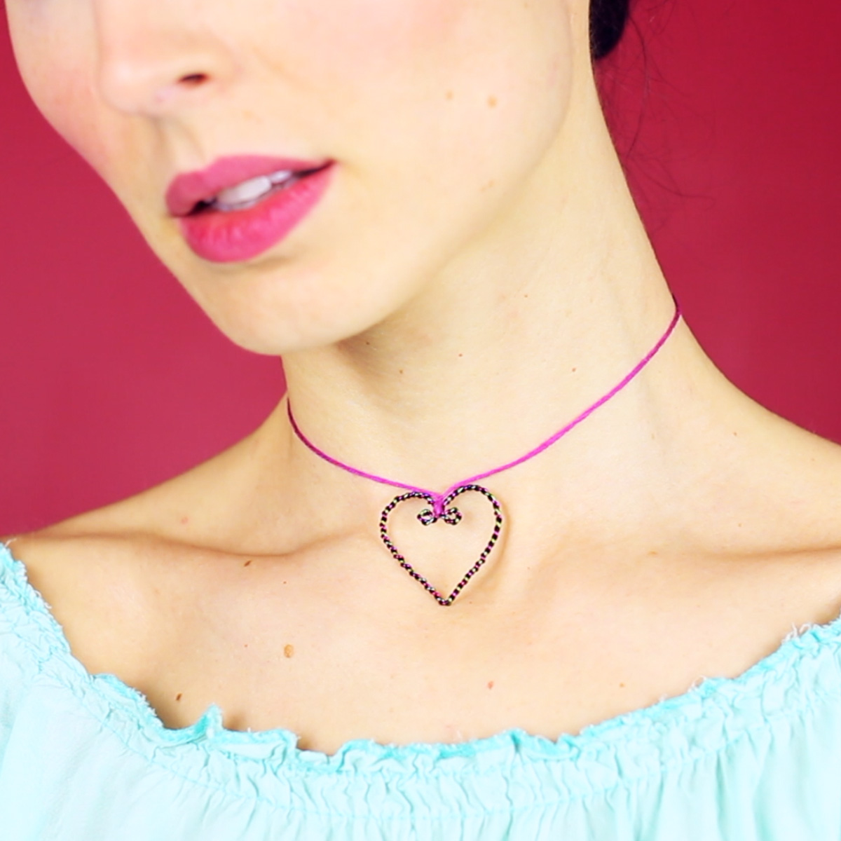 Picture of 3 DIY Heart Chokers | Easy & No Special Tools!