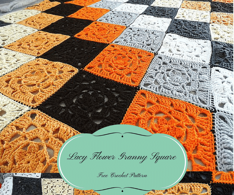 Lacy Flower Granny Square Free Crochet Pattern