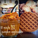 10 minute pumpkin applesauce with protein waffles