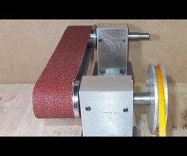 Homemade Mini Grinder Belt Wheel With DIY Sanding Grinding Heads Spindle