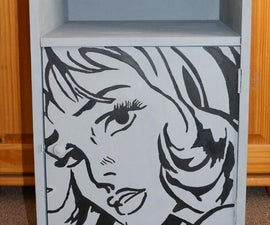 Create a popart bedside cabinet
