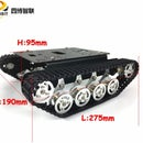 Shock Absorption Metal Robot Car Chassis for Arduino Raspberry