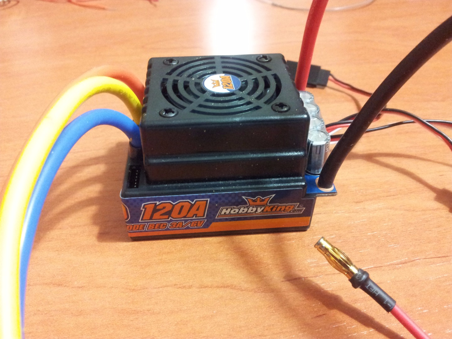 Picture of Motor, ESC and Battery