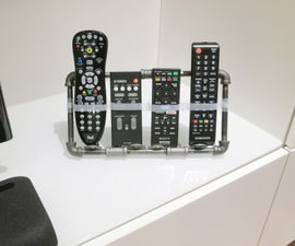 A TV Remote Control Holder Worthy of the Mancave!