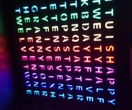 Minimalist 3D Printed RGB Word Clock