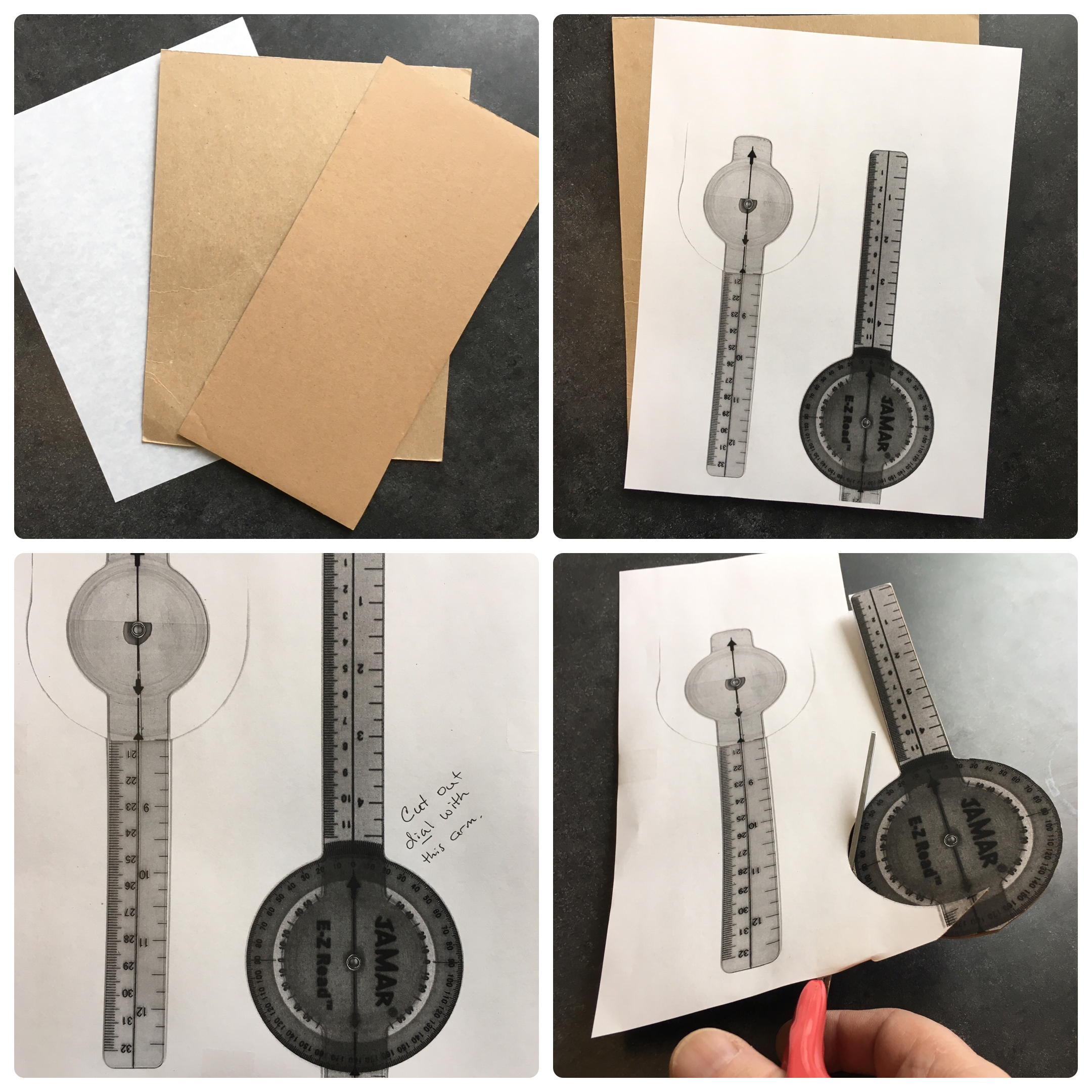 Picture of Cut Out the Goniometer Pattern