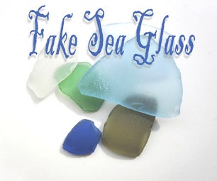 Making fake sea glass at home
