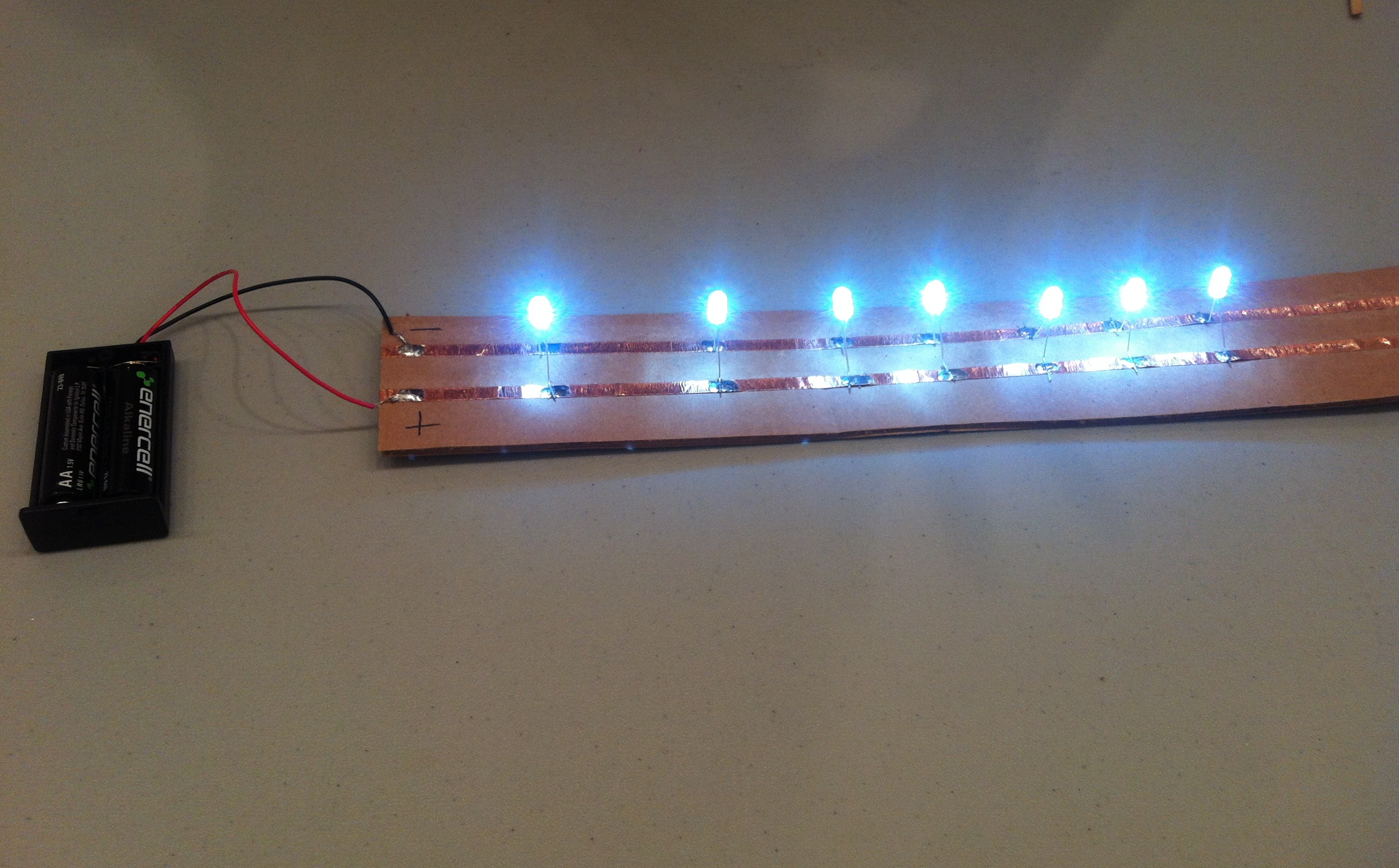 Picture of Simple Circuit With Copper Tape