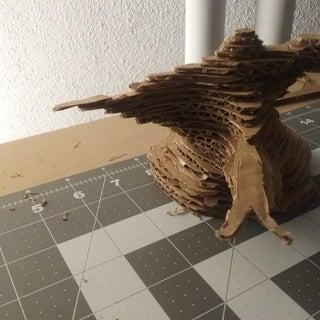 Cardboard Bonsai Tree