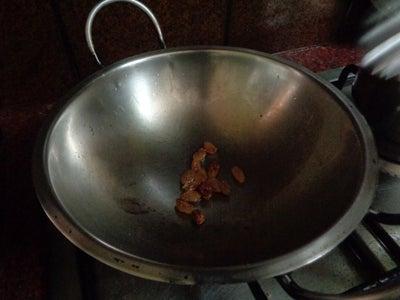 Add Cashew Nuts and Raisins