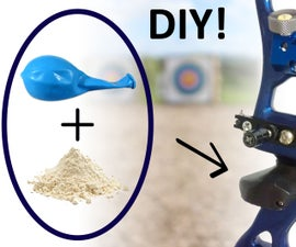 How to make a custom bow grip using a balloon and some flour
