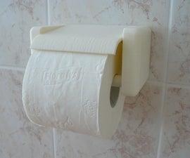 3D printed quick change toilet paper holder