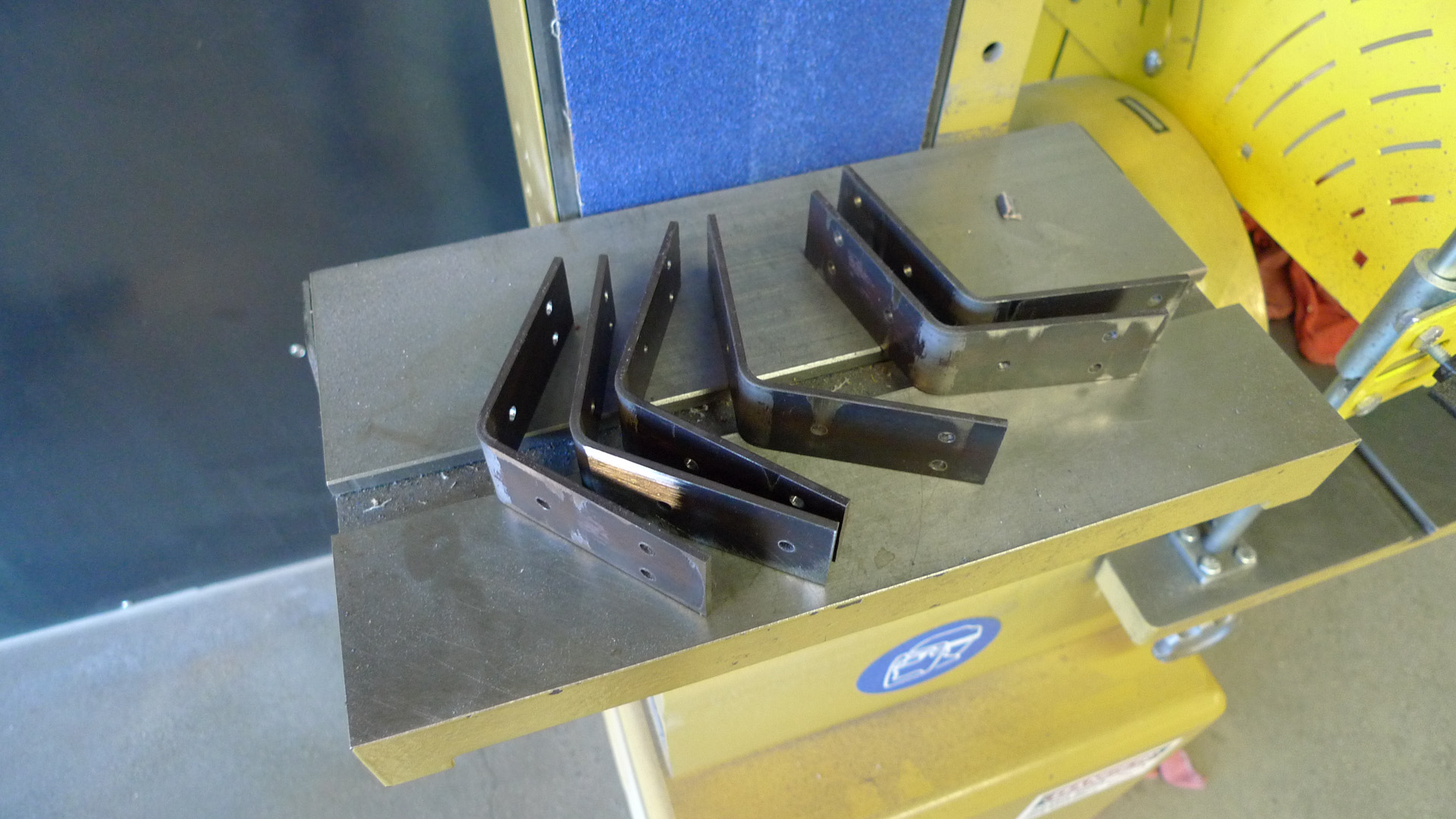 Picture of Drill Holes, Countersink Brackets