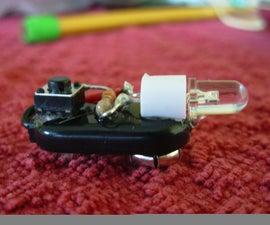Tiny 9V Clip Flashlight!