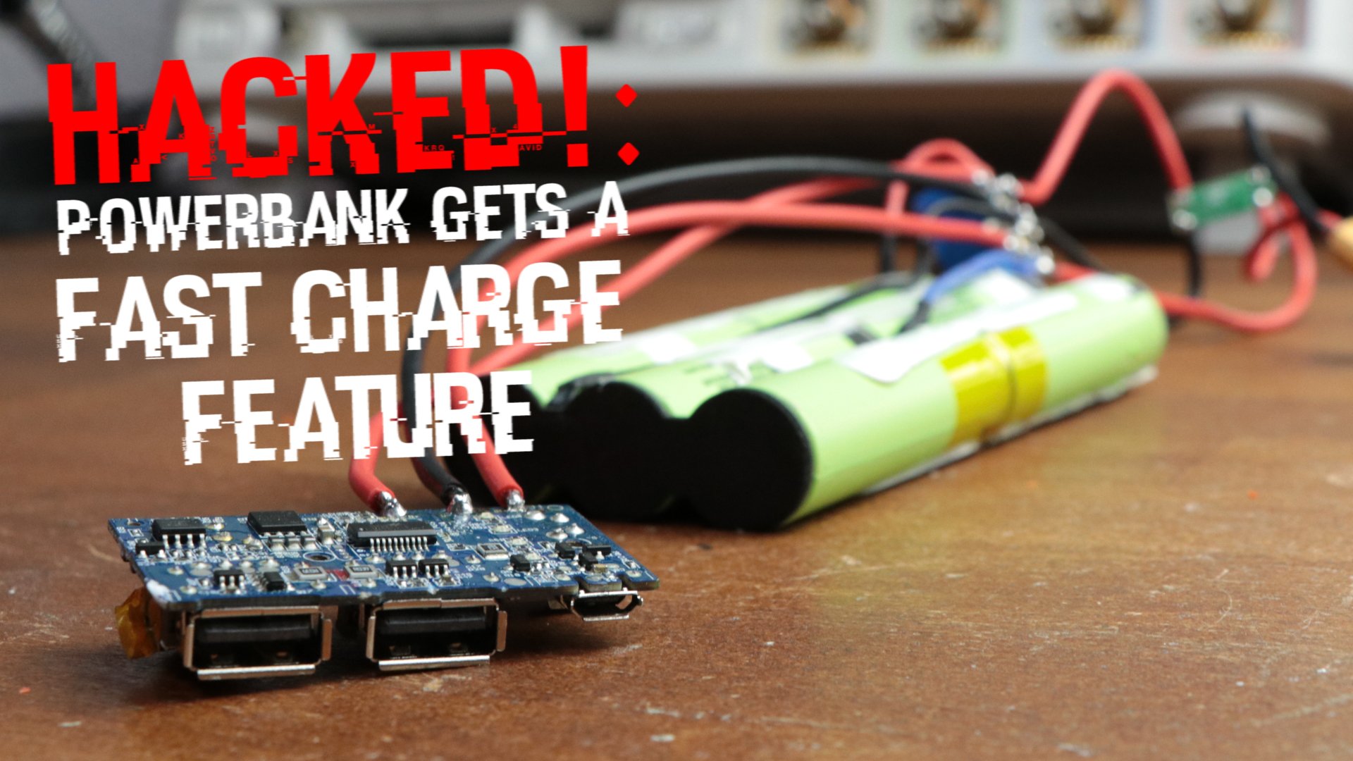 Picture of Adding a Fast Charge Feature to a Powerbank