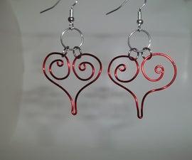 Crimson Heart Earrings