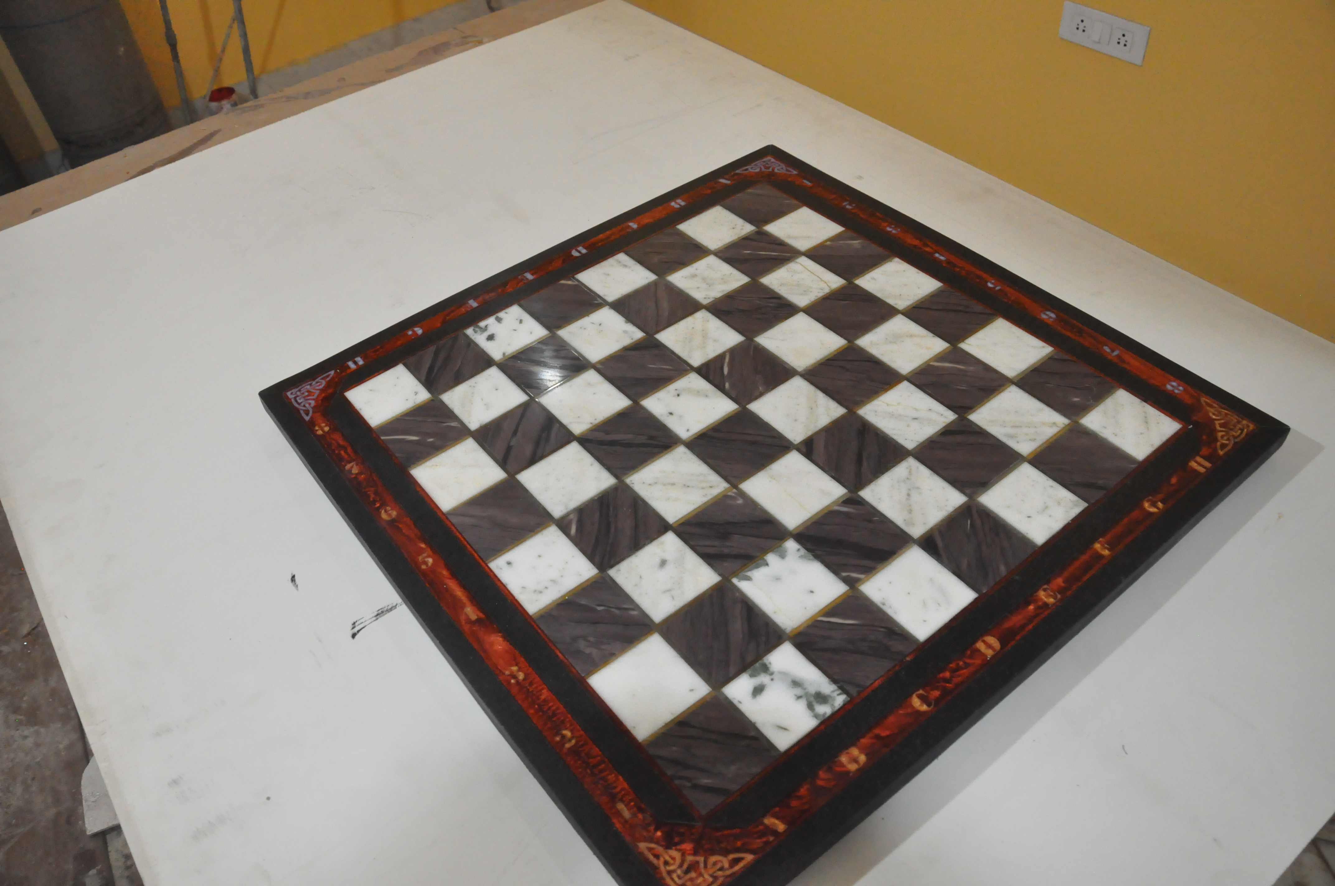 Picture of Stone Chess Board Build From Scrap