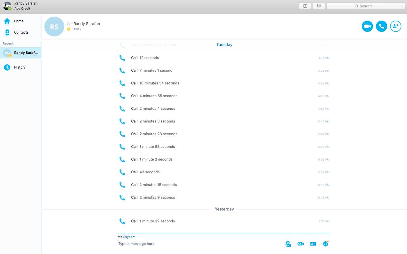 Connect to Skype