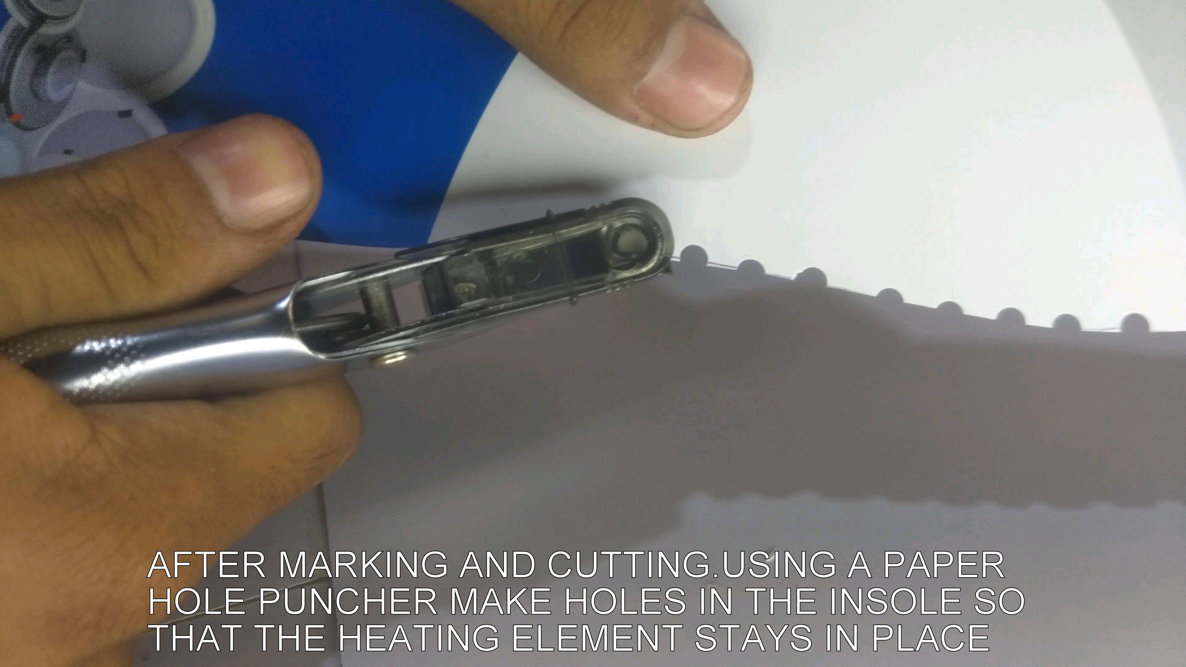 Picture of Using Puncher Make Holes